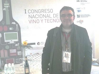 Javier Álvarez, gerente de CCL Certificaciçon, el I Congreso Nacional de Vino y Tecnología