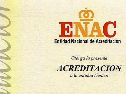certificado de ENAC para nuestra empresa CCl Certificación